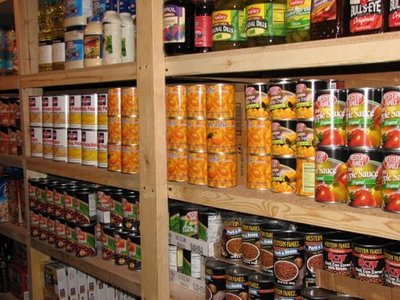 food storage shelves