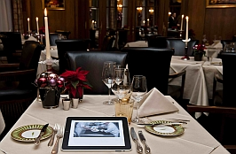 ipad in restaurant