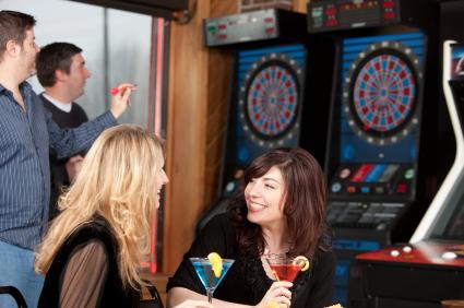 Darts at a Bar
